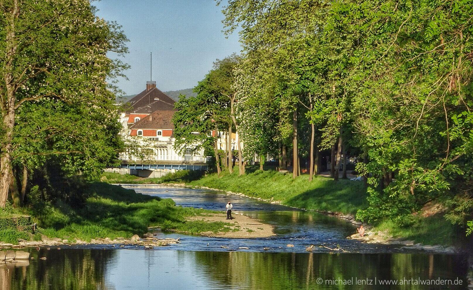Der Kurpark und die Ahraallee in Bad Neuenahr zur Landesgartenschau 2022