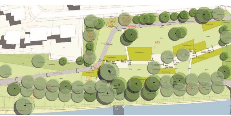 Lageplan Rosengarten